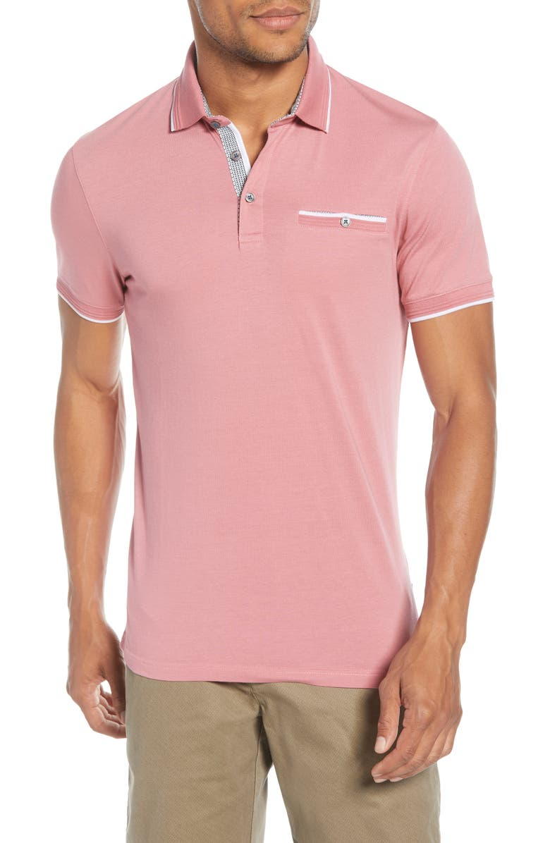 TED BAKER LONDON Derry Slim Fit Polo, Main, color, 664