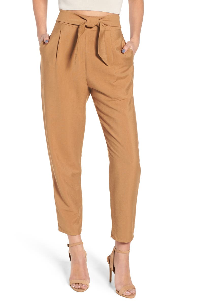 LEITH Tie Front Pant, Main, color, 235