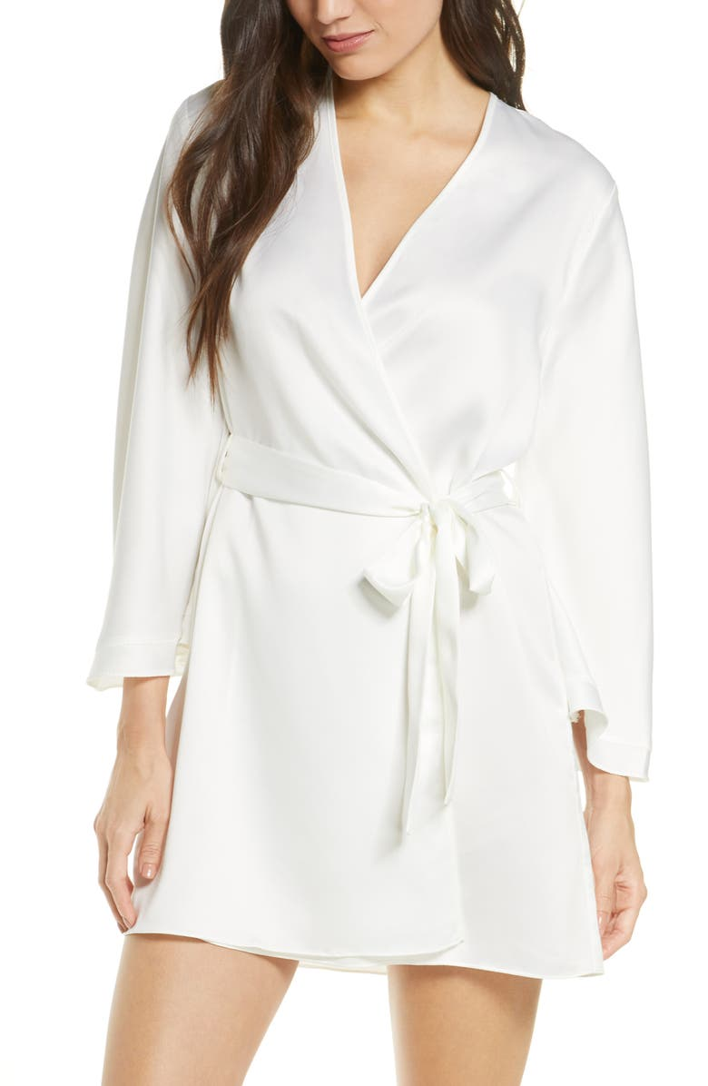 RYA COLLECTION Heavenly Satin Wrap, Main, color, IVORY