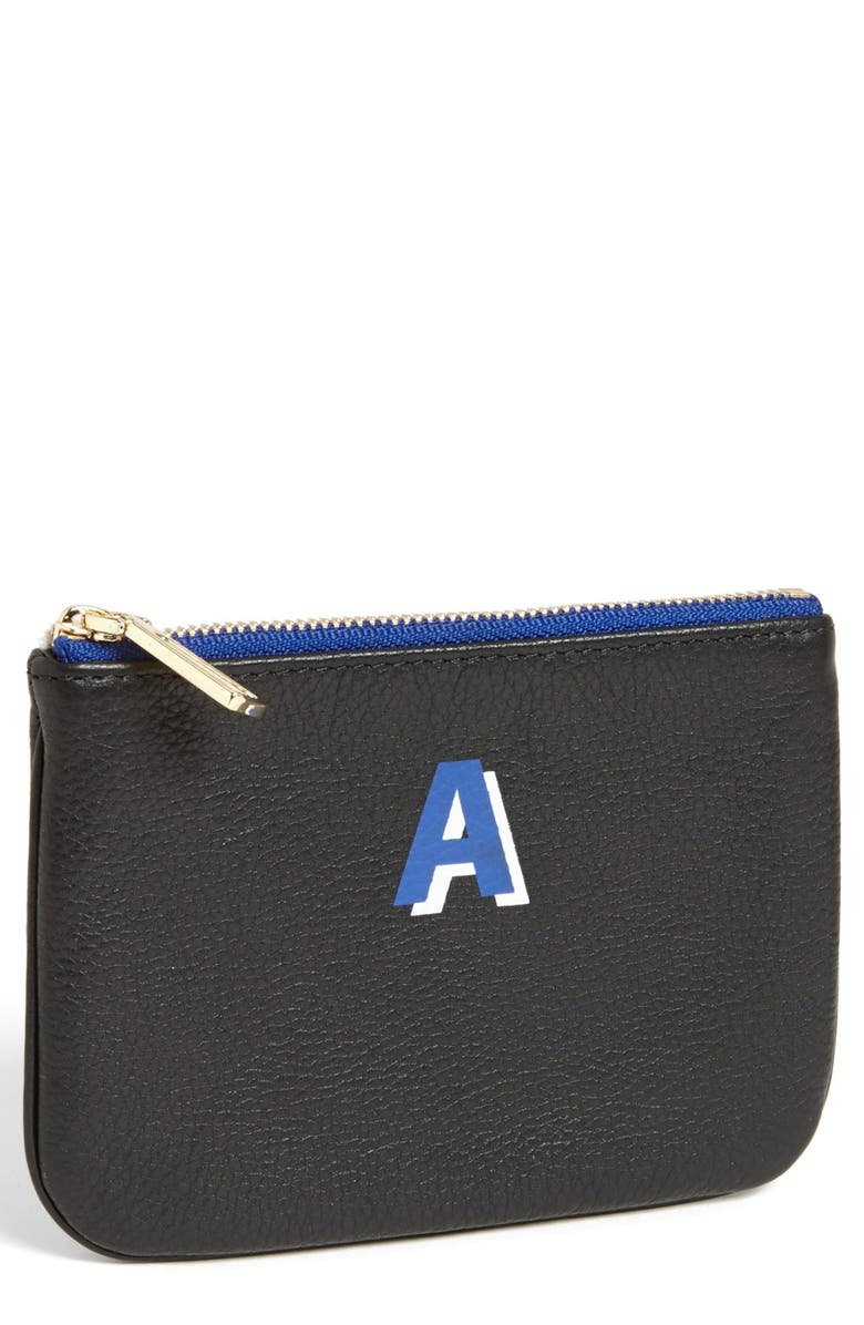 REBECCA MINKOFF 'Cory - A-Z' Leather Pouch, Main, color, 001