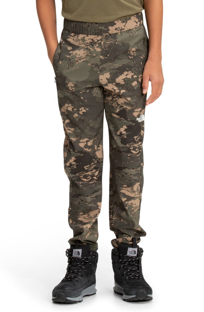 THE NORTH FACE Kids' On Mountain Camo Pants, Main, color, NEW TAUPE GREEN TONAL CLOUD