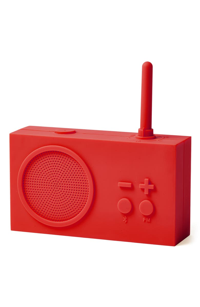 LEXON Tykho 3 AM/FM Radio & Bluetooth<sup>®</sup> Speaker, Main, color, RED