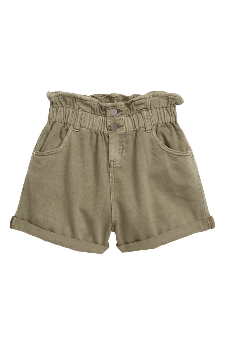 SEED HERITAGE Paperbag Waist Twill Shorts, Main, color, 250