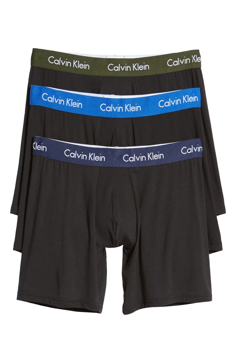 CALVIN KLEIN Body 3-Pack Stretch Modal Boxer Briefs, Main, color, BLACK BODIES W POP WB