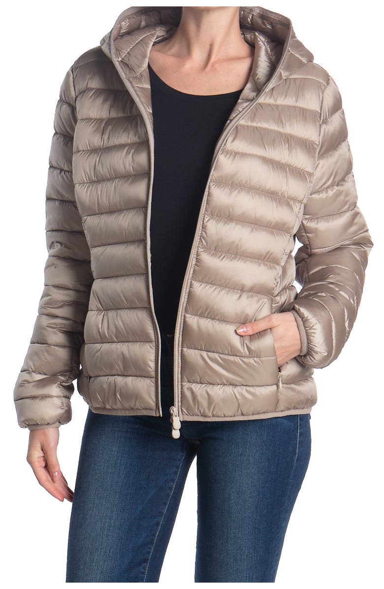 SAVE THE DUCK Iris Midweight Jacket, Main, color, PEARL GREY