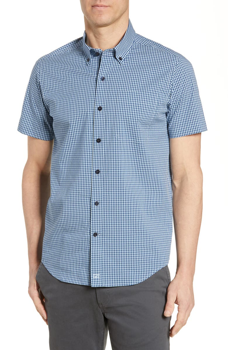 CUTTER & BUCK Anchor Classic Fit Gingham Shirt, Main, color, 459