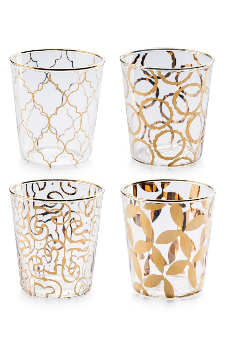 ROSANNA 'Luxe Moderne' Double Old Fashioned Glasses, Main, color, WHITE