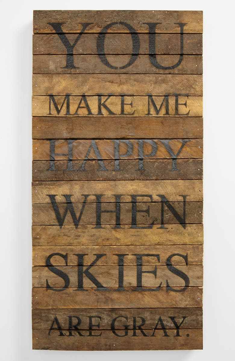 SECOND NATURE BY HAND 'You Make Me Happy' Wood Wall Plaque, Main, color, 200