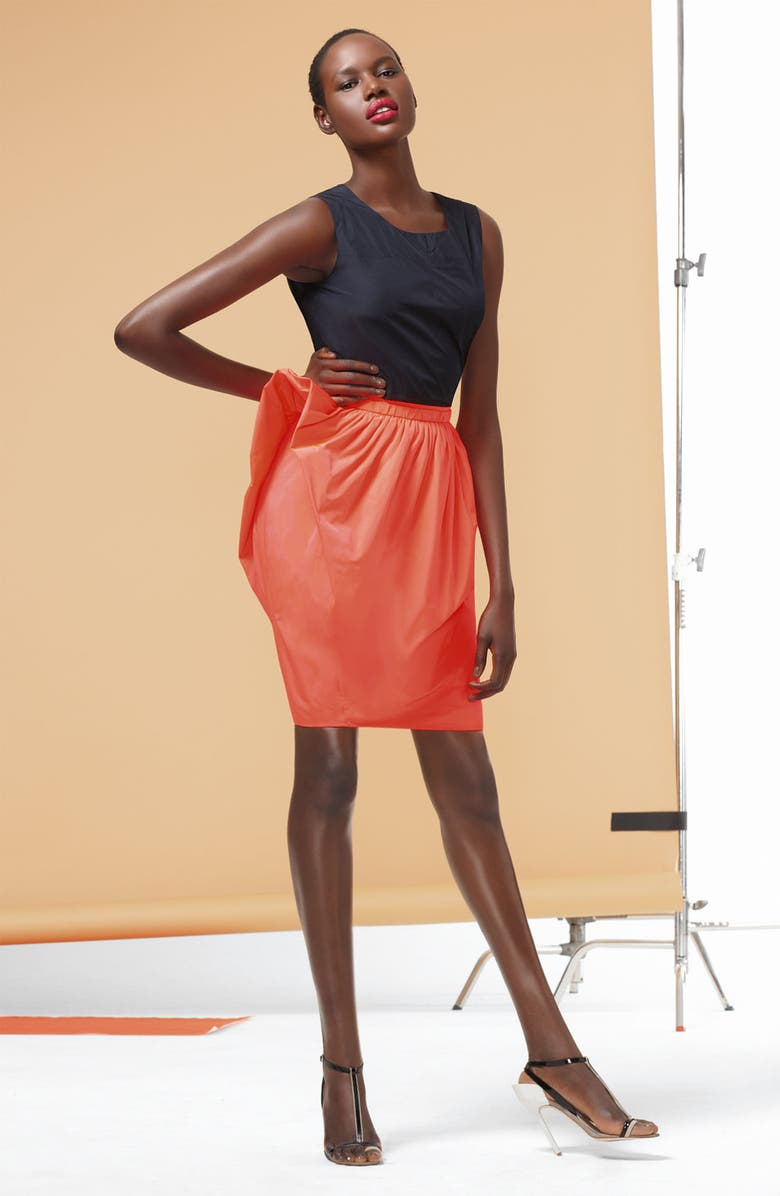 MARC BY MARC JACOBS 'Ellsworth' Structural Taffeta Skirt, Main, color, 400