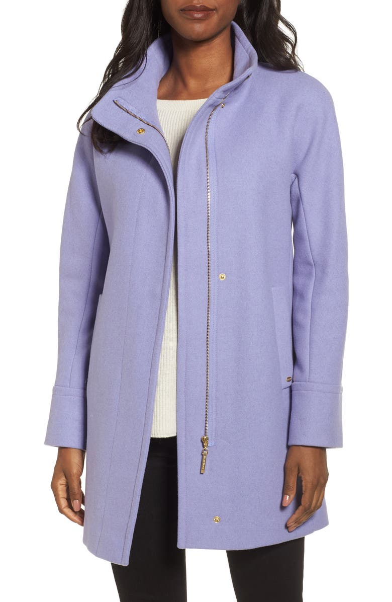 ELLEN TRACY Wool Blend Stadium Coat, Main, color, 524