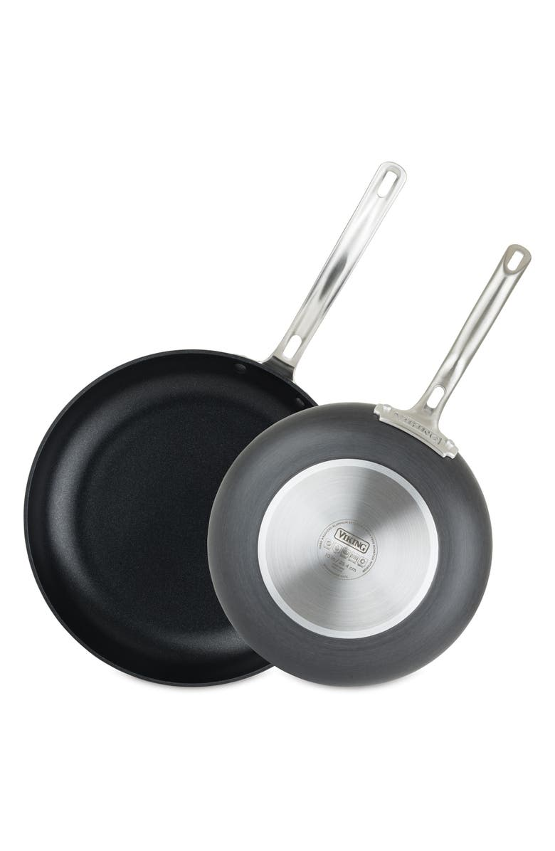 VIKING Hard Anodized Nonstick 10-Inch & 12-Inch Fry Pans, Main, color, BLACK