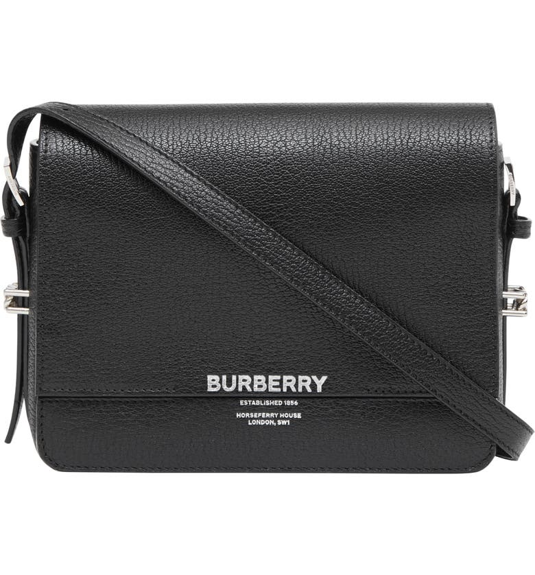 BURBERRY Small Grace Leather Bag, Main, color, 001