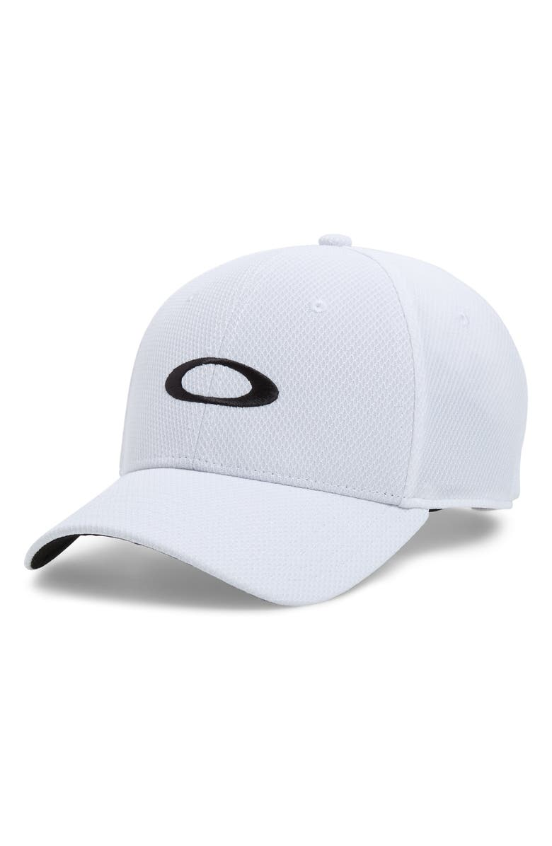 OAKLEY Golf Ellipse Embroidered Baseball Cap, Main, color, WHITE