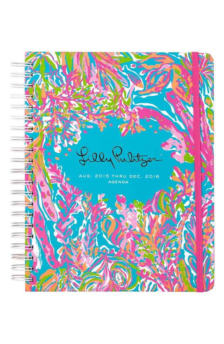 LILLY PULITZER<SUP>®</SUP> Jumbo 17-Month Planner, Main, color, SCUBA TO CUBA