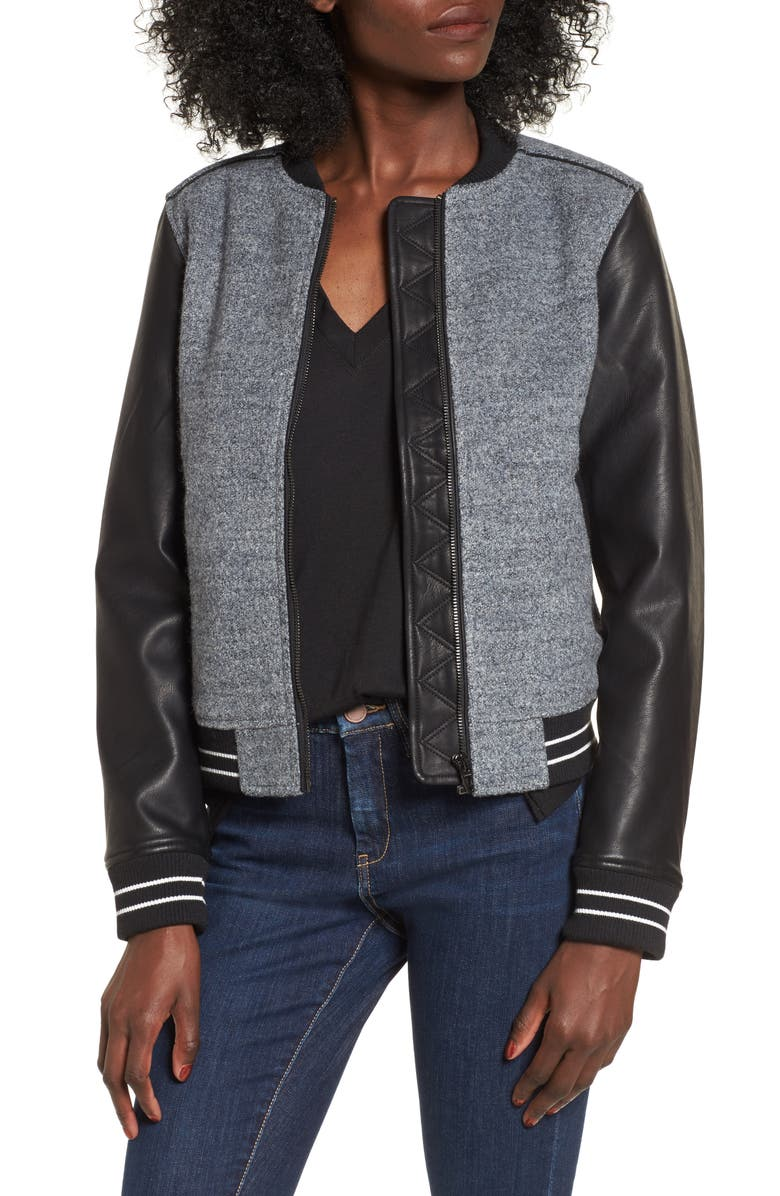 BLANKNYC Own the Night Bomber Jacket, Main, color, 020