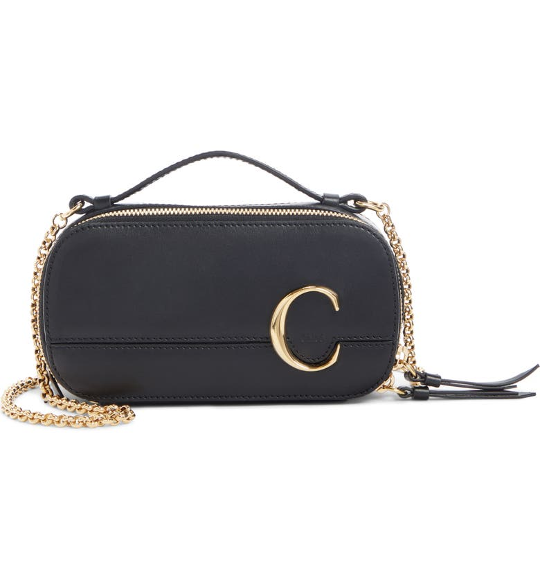 CHLOÉ C Multi Leather Crossbody Bag, Main, color, 001