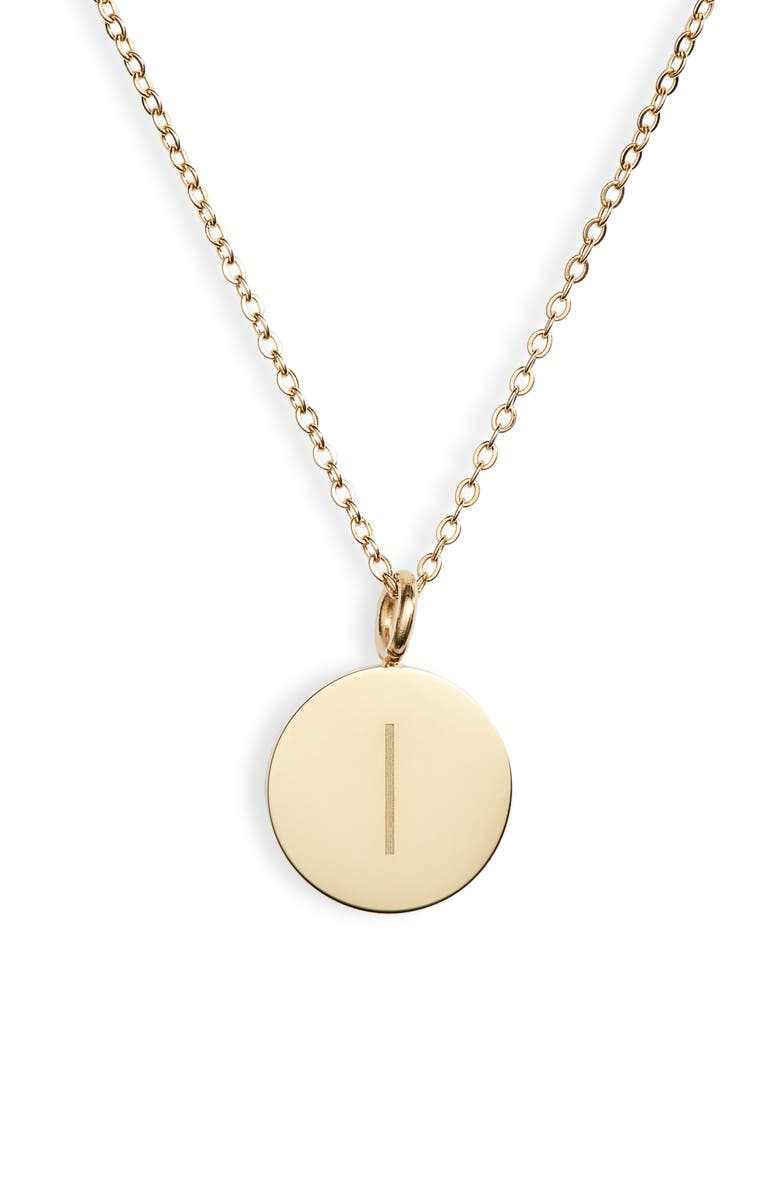 KNOTTY Initial Charmy Necklace, Main, color, GOLD - I