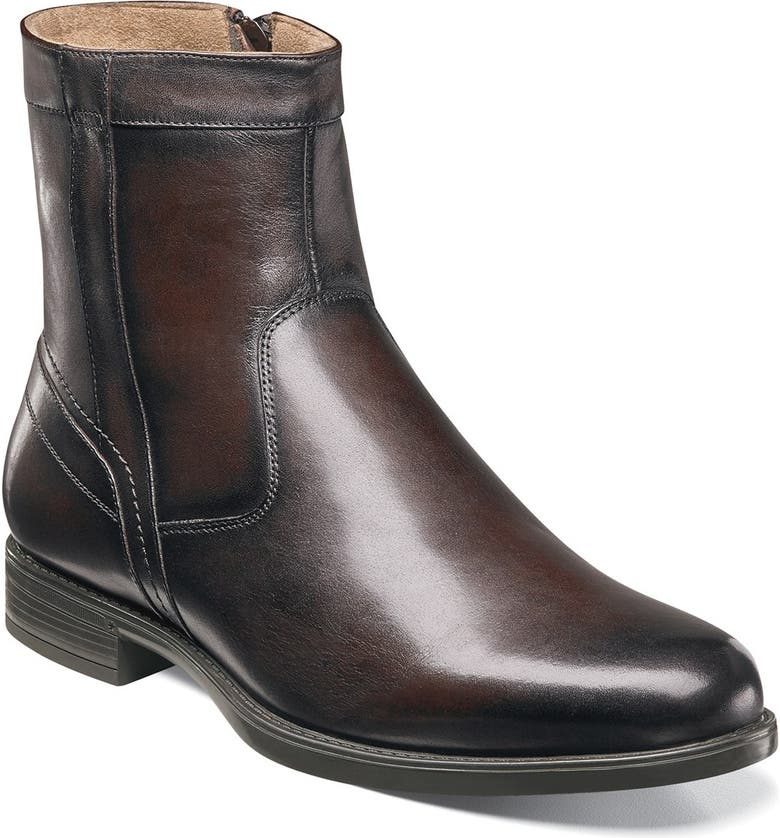 FLORSHEIM 'Midtown' Zip Boot, Main, color, BROWN LEATHER
