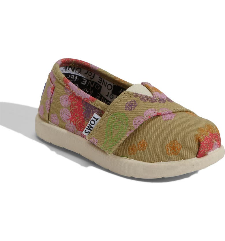 TOMS Disney, It's a Small World by TOMS 'Classic' Slip-On, Main, color, 300