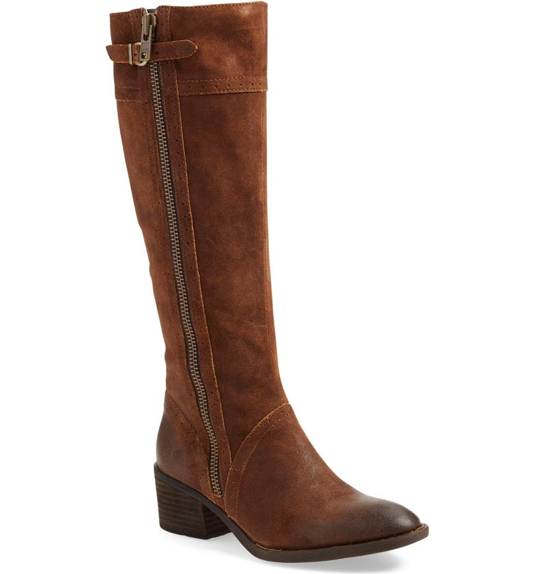 BØRN Poly Riding Boot, Main, color, TOBACCO DISTRESSED LEATHER