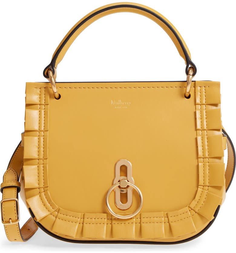 MULBERRY Mini Amberley Leather Crossbody Bag, Main, color, 700