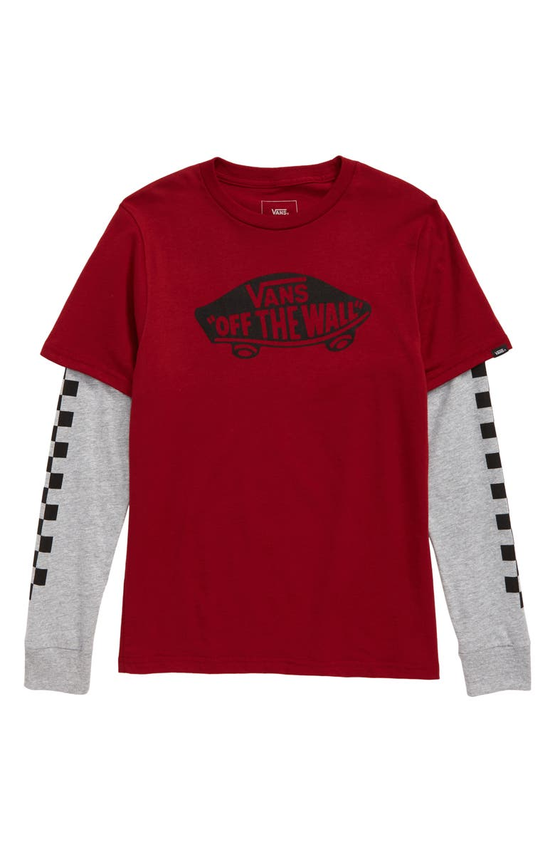 VANS Off the Wall Twofer Layered T-Shirt, Main, color, 601