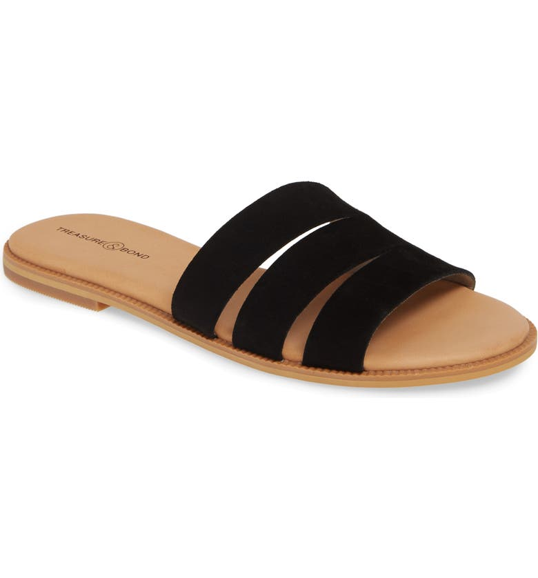 TREASURE & BOND Miles Slide Sandal, Main, color, 001