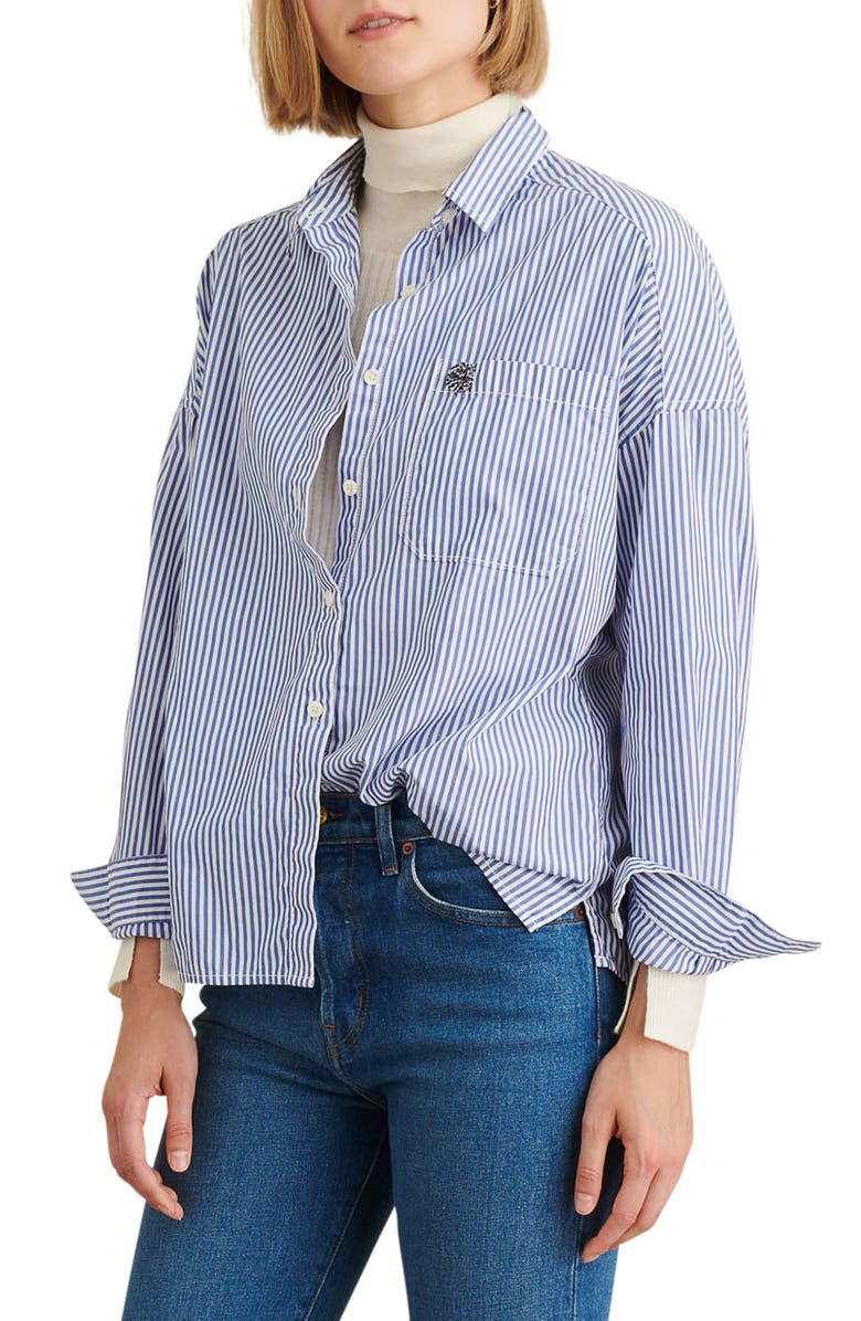 ALEX MILL Oversize Stripe Shirt, Main, color, 461