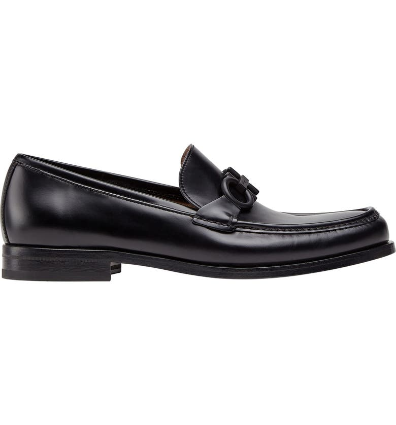 SALVATORE FERRAGAMO Rolo Bit Loafer, Main, color, BLACK
