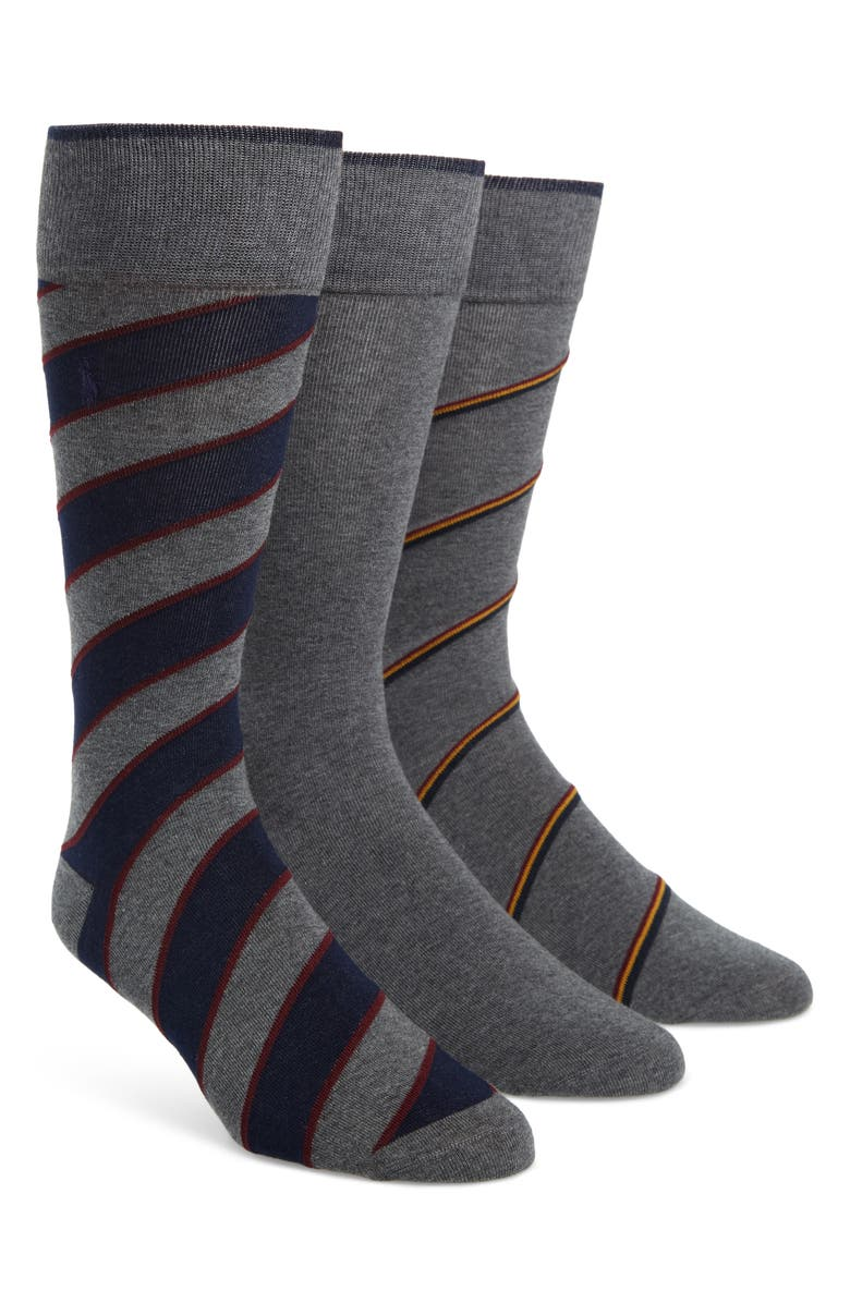 POLO RALPH LAUREN 3-Pack Socks, Main, color, 051