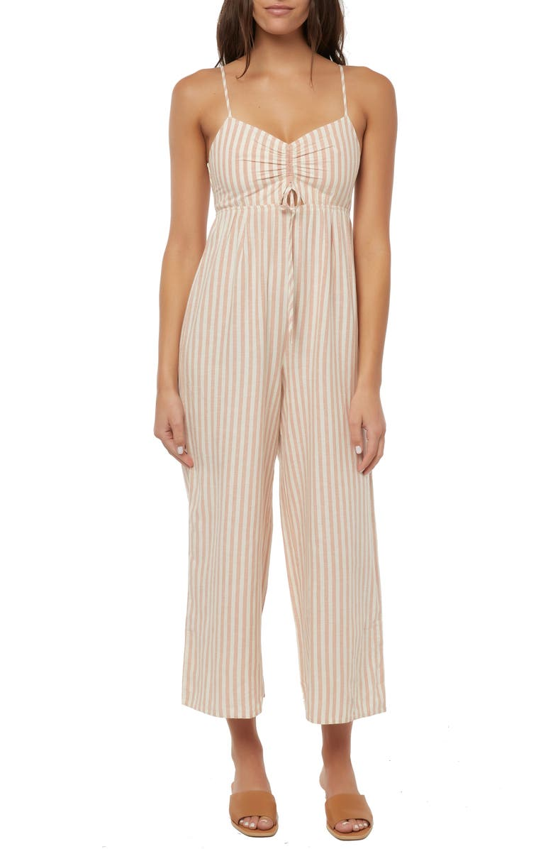 O'NEILL Anabella Stripe Ruched Jumpsuit, Main, color, 250