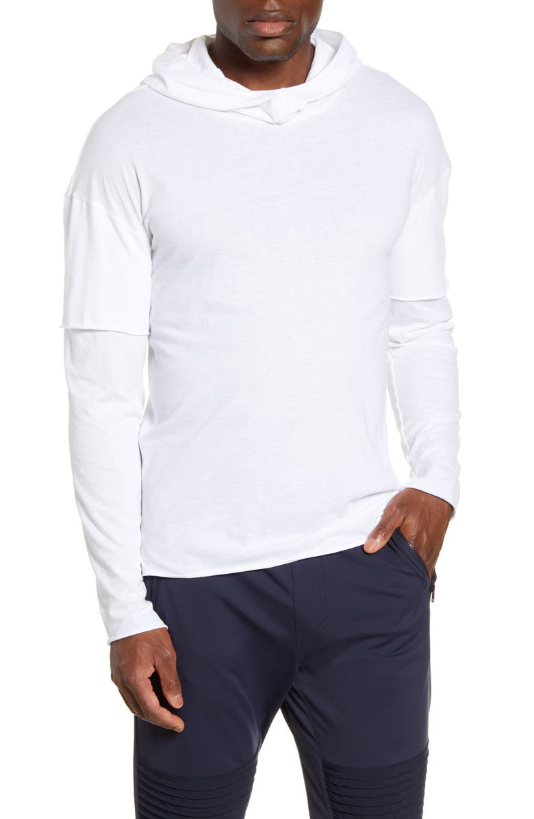ALO 2-in-1 Pullover Hoodie, Main, color, 100