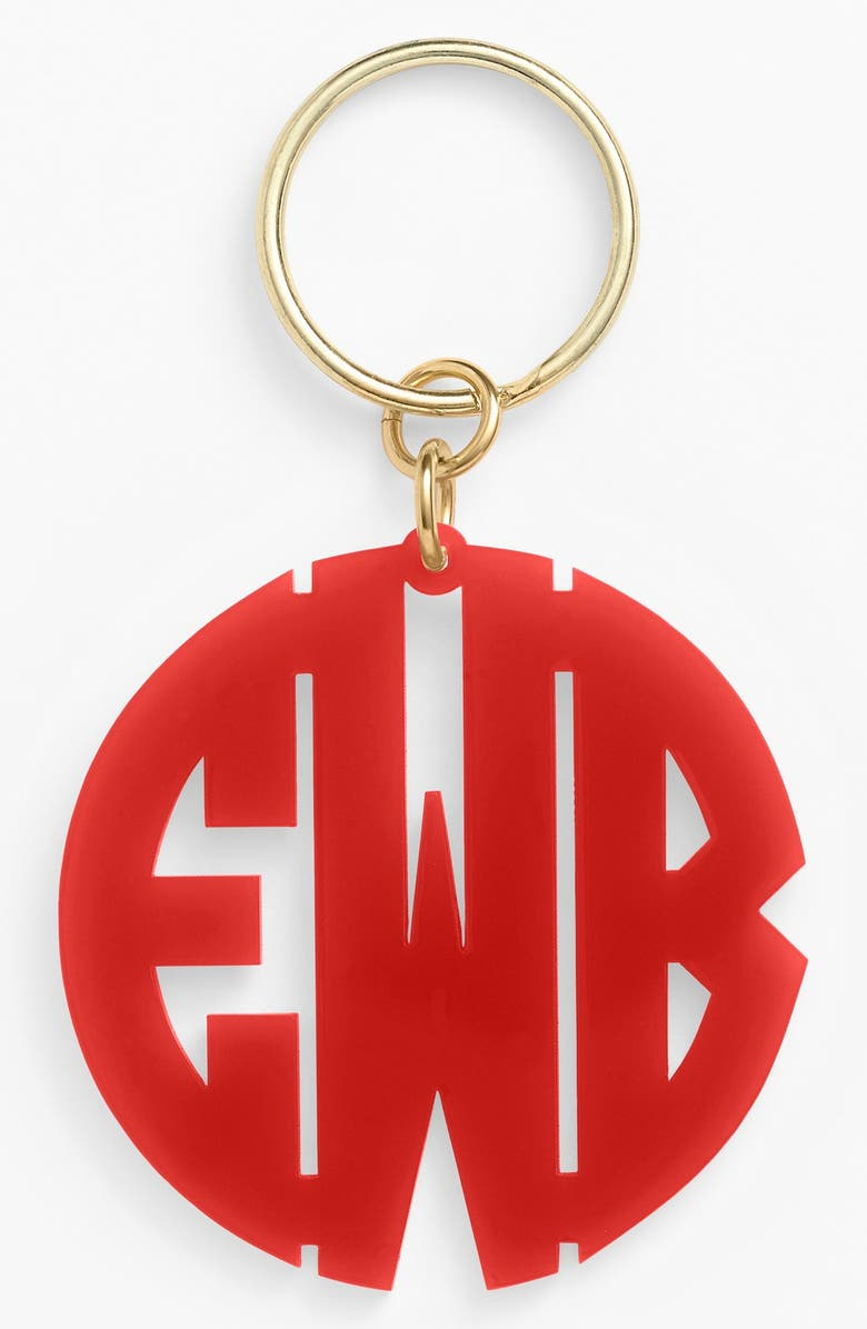 MOON AND LOLA Personalized Monogram Key Chain, Main, color, 600