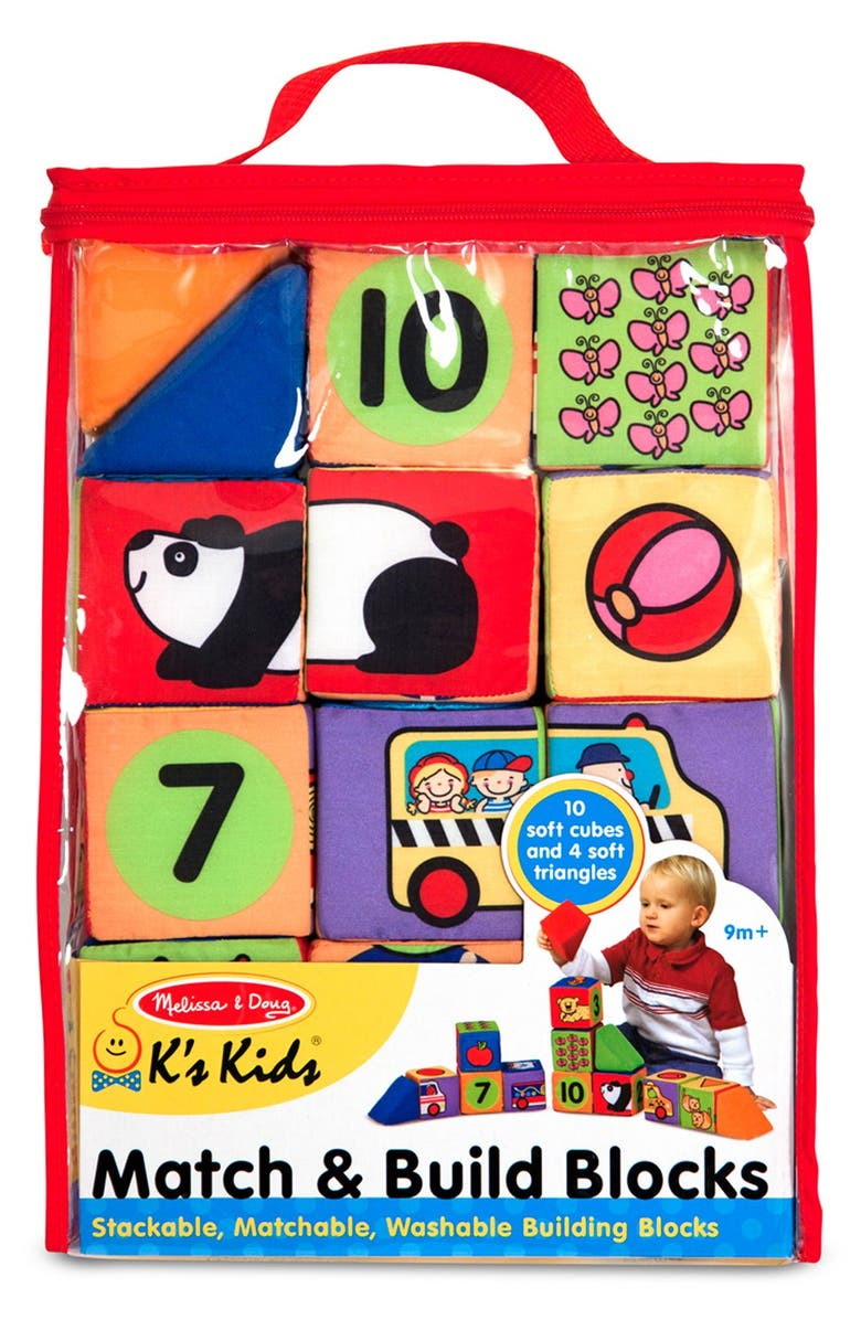 MELISSA & DOUG 'Match & Build' Blocks, Main, color, 960