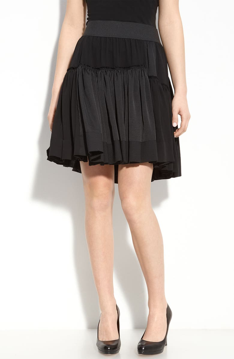 DKNYC Tiered Skirt, Main, color, Black