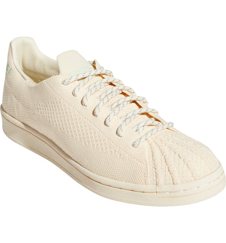 ADIDAS x Pharrell Williams Superstar Woven Sneaker, Main, color, ECRU TINT/ WHITE/ GLORY MINT