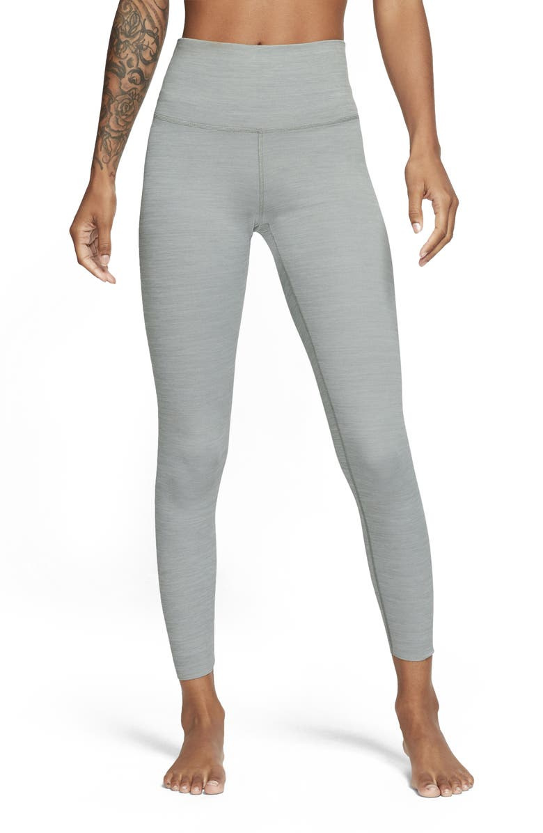 NIKE Yoga Luxe 7/8 Tights, Main, color, PARTICLE GREY/ PLATINUM TINT
