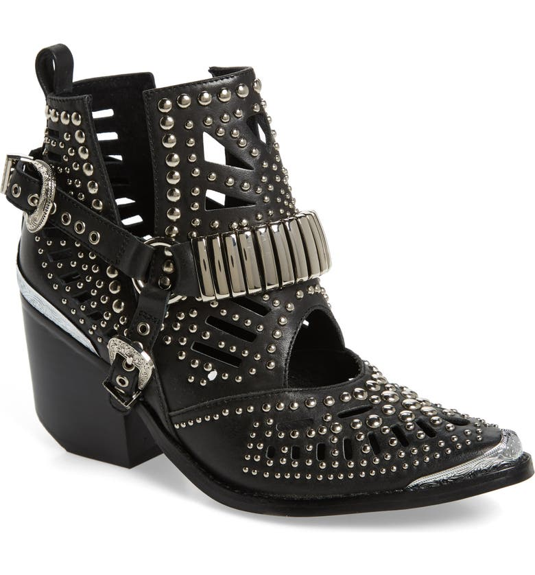 JEFFREY CAMPBELL Wylie Studded Western Bootie, Main, color, 001