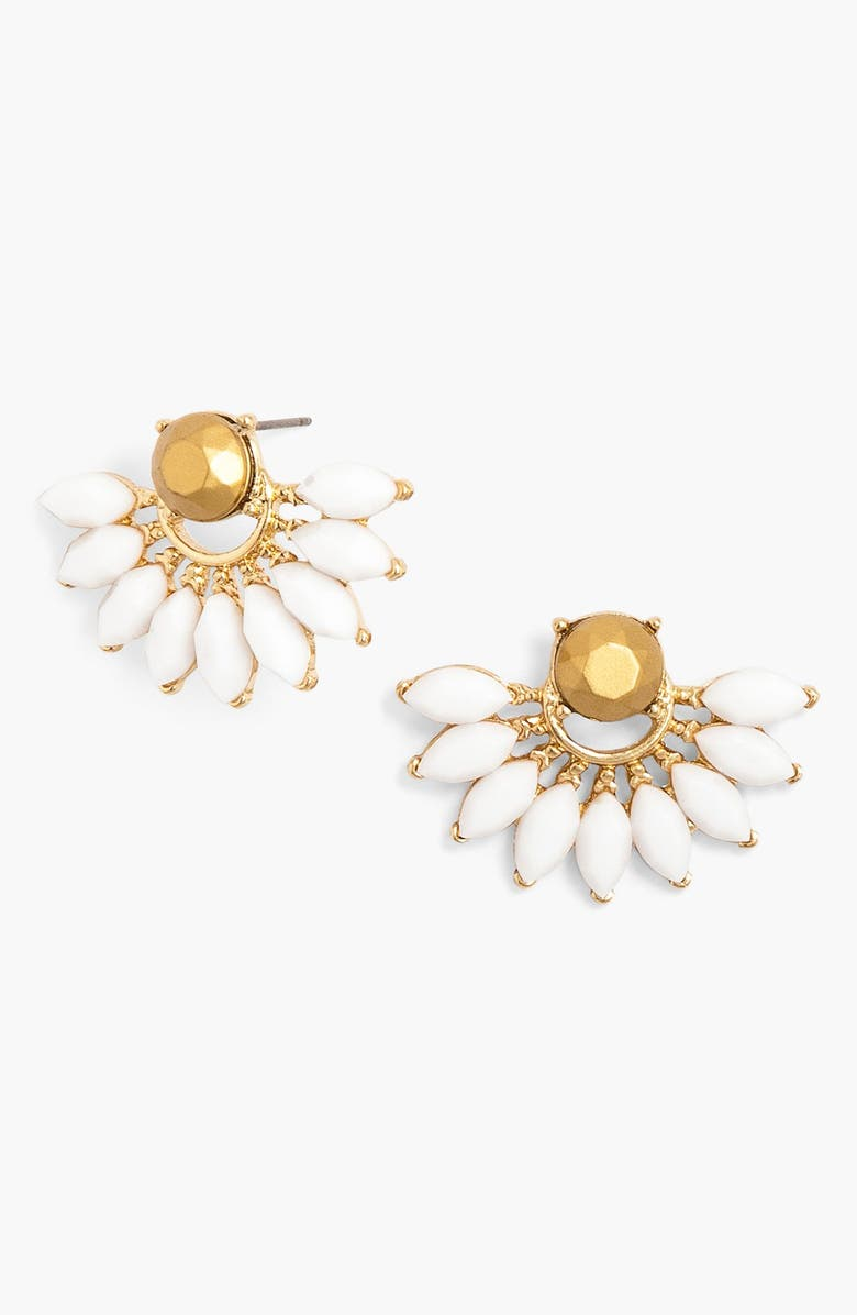 BAUBLEBAR 'Peacock' Fan Stud Earrings, Main, color, 100