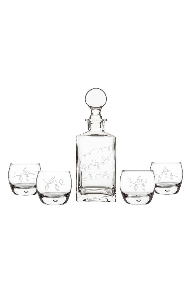 CATHY'S CONCEPTS Fa La La 5-Piece Decanter Set, Main, color, 100