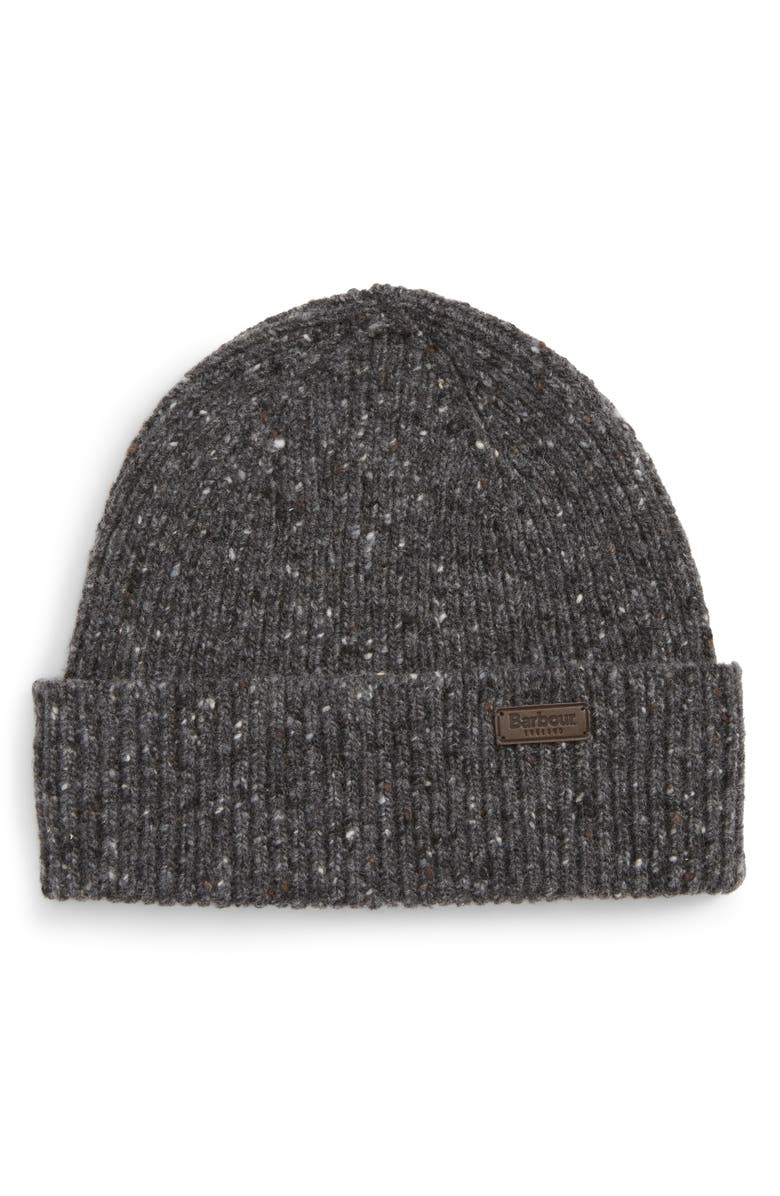 BARBOUR Lowerfell Donegal Beanie Hat, Main, color, 021