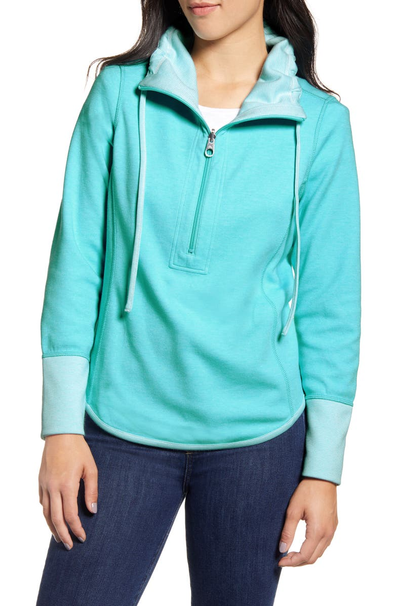 TOMMY BAHAMA Sun Fade Half Zip Pullover, Main, color, CLEAR OCEAN