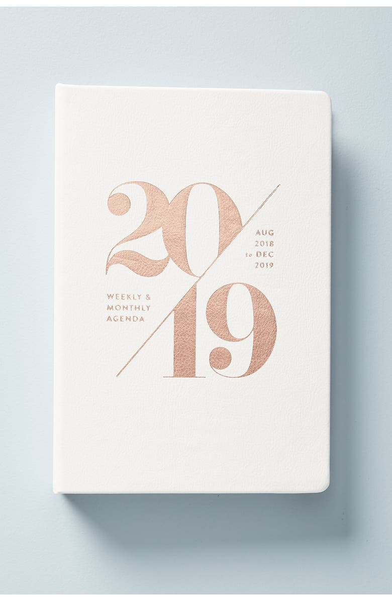 ANTHROPOLOGIE HOME Anthropologie Mila 17-Month Planner, Main, color, 100