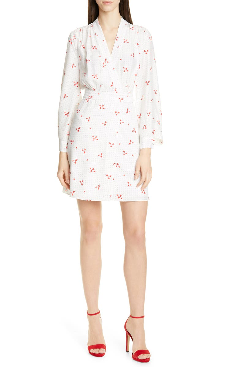 EQUIPMENT Allaire Long Sleeves Silk Dress, Main, color, 110