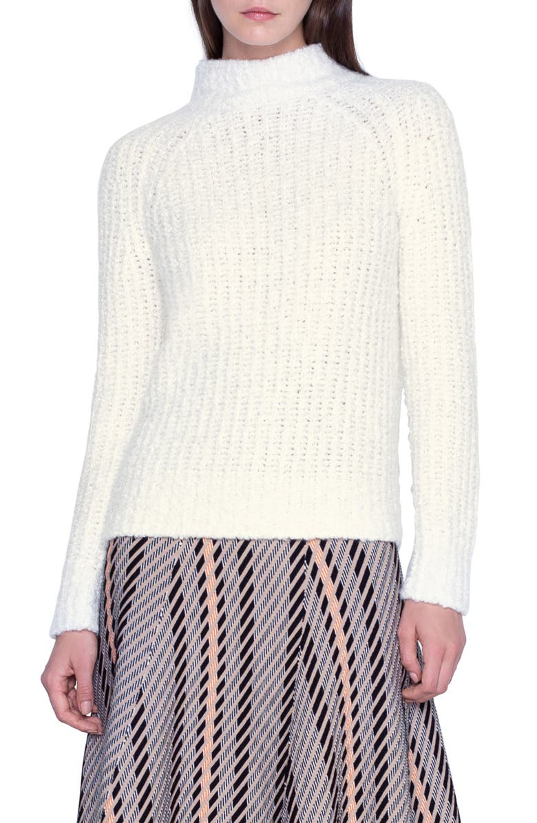 AKRIS Rib Cashmere & Silk Sweater, Main, color, 900