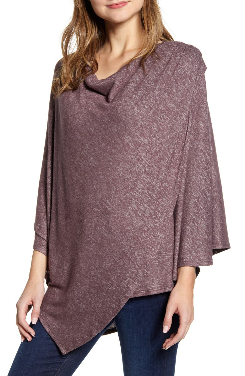 BOBEAU Cozy Poncho Top, Main, color, 001