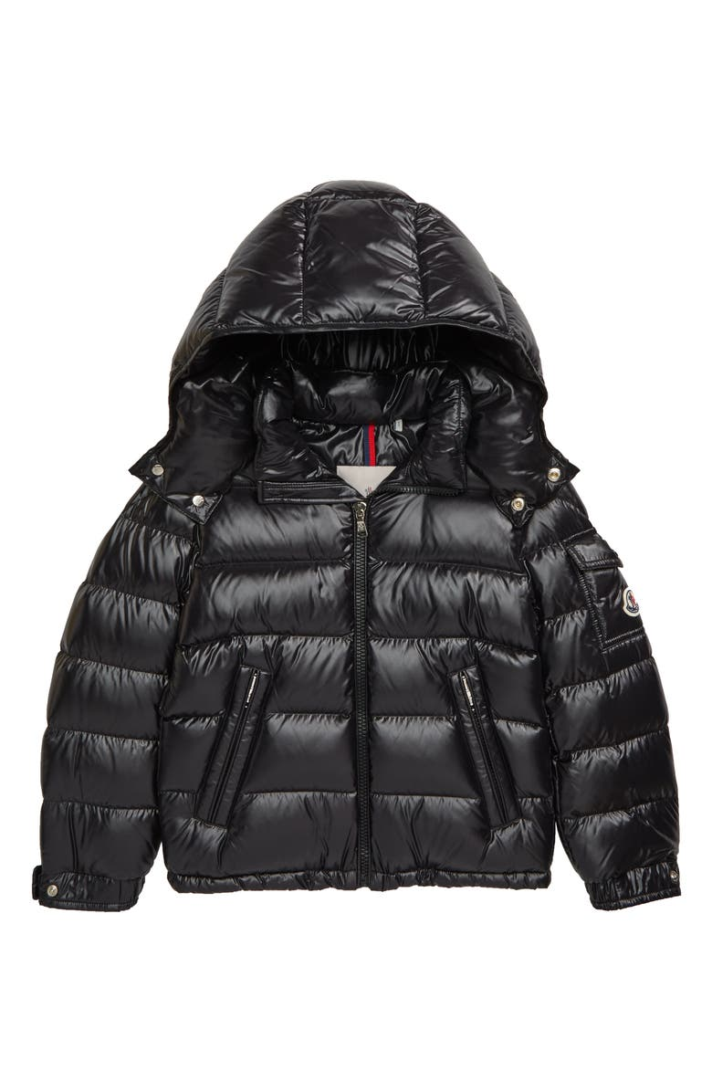 MONCLER New Maya Water Resistant Hooded Down Puffer Coat, Main, color, 001