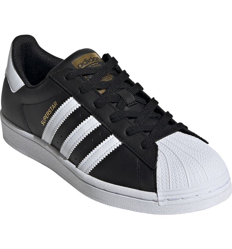 ADIDAS Superstar Sneaker, Main, color, BLACK/ WHITE/ BLACK