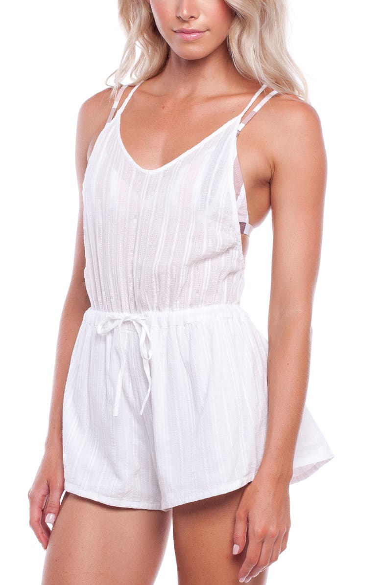 RHYTHM Daydreamer Cover-Up Romper, Main, color, 101