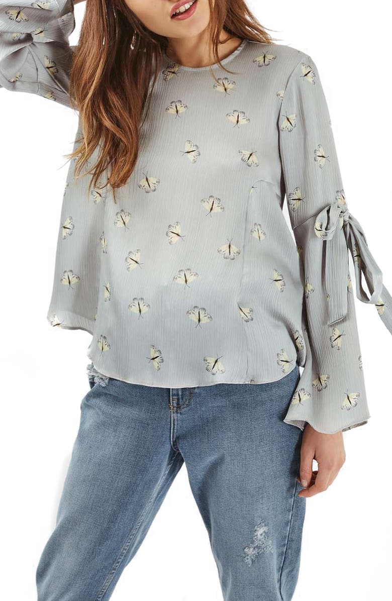 TOPSHOP Moth Print Top, Main, color, 020